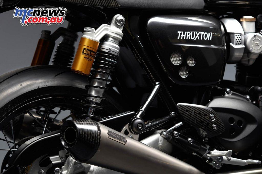 Triumph ThruxtonTFC Shocks Muffler