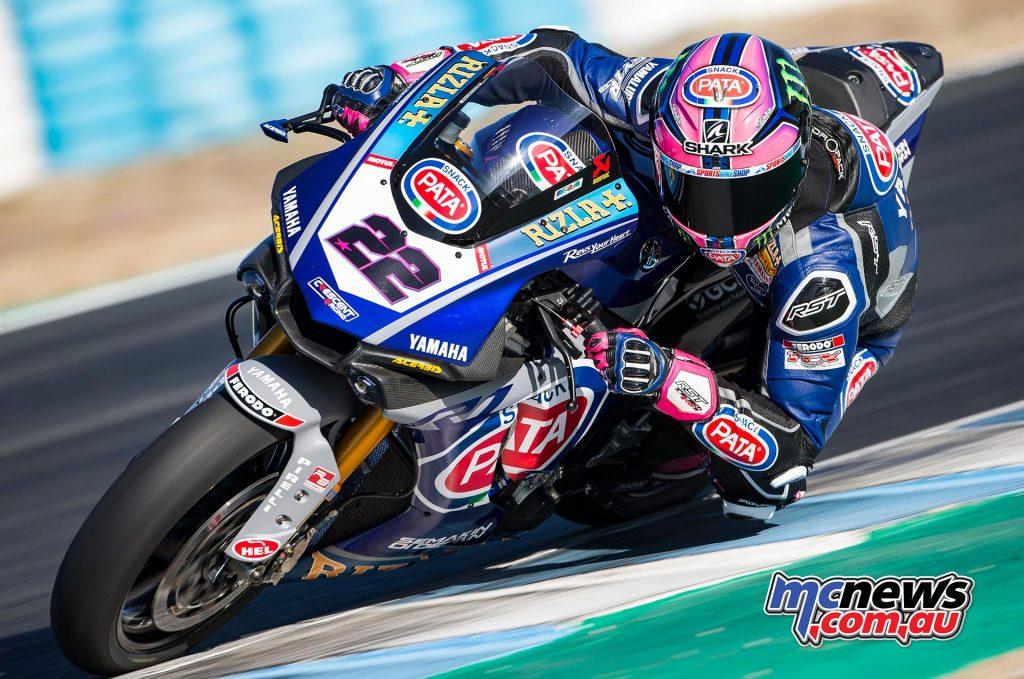WSBK Test Jerez Day Alex Lowes
