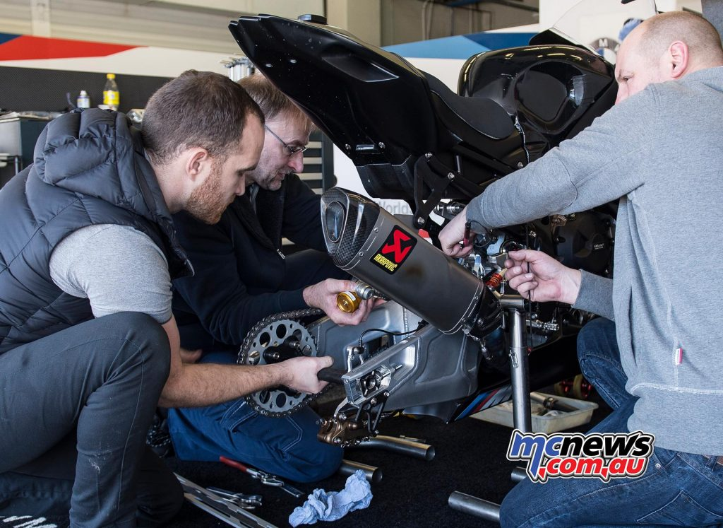 WSBK Test Jerez Day BMW
