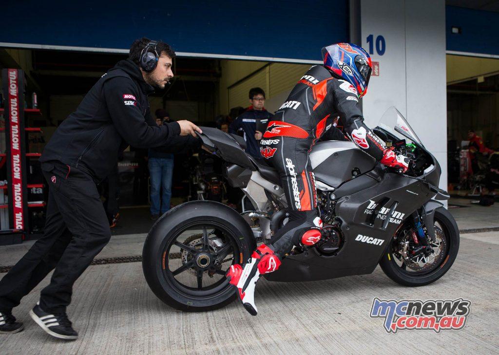WSBK Test Jerez Michael Rinaldi