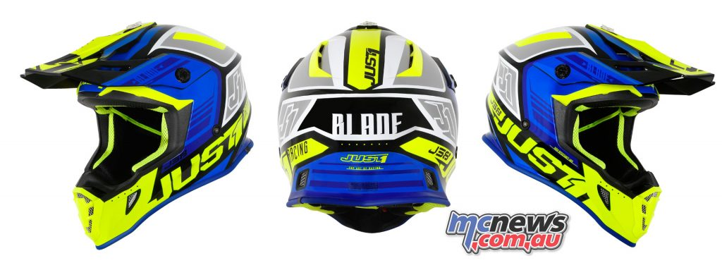 J BLADE BLUE FLUO YELLOW BLACK GLOSS BACK