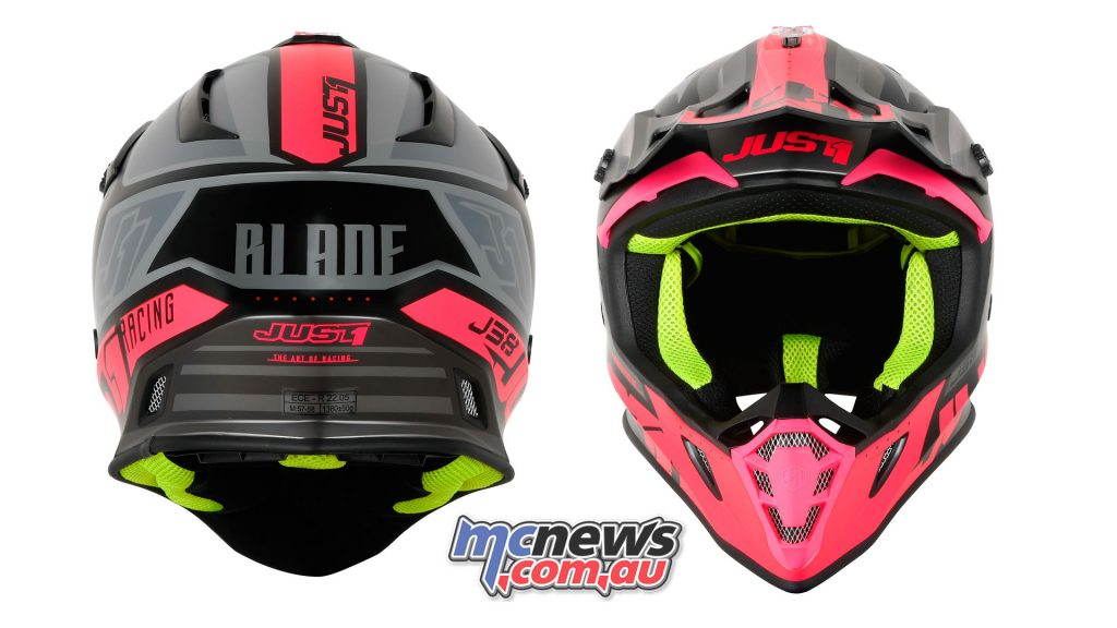 J BLADE FLUO FUXIA BLACK MATT BACK