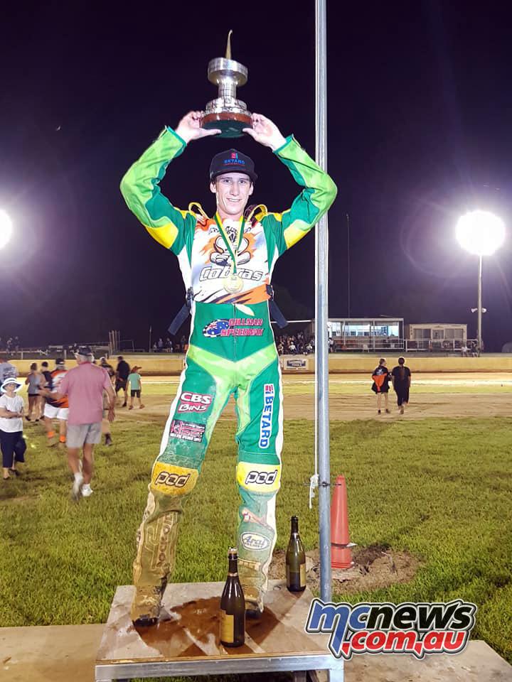 Max Fricke Australian Speedway Solo Champion
