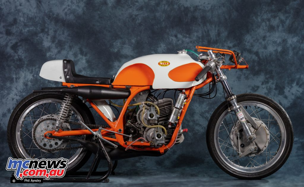 This Moto Villa 250/4 Racer was introduced in 1969 but couldn't compete in 1970 due to a two-cylinder limit