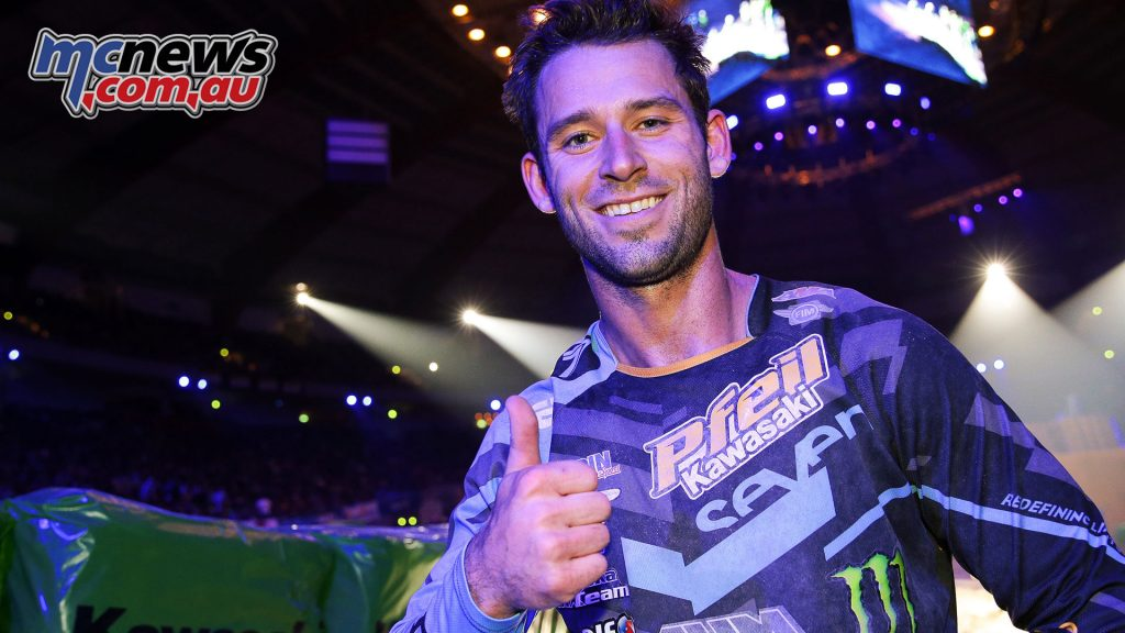 Tyler Bowers won the German Supercross ImgJanBrucke