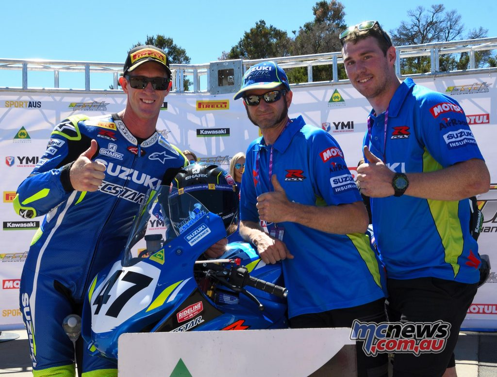 ASBK Round Phillip Island SBK Saturday Rob Mott Wayne MAXWELL team