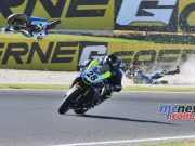 ASBK Round Phillip Island SBK Saturday Rob Mott Wayne Maxwell Crash