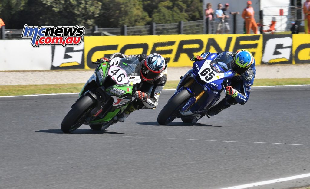 ASBK Round Phillip Island SBK Sunday Rob Mott Michael Jones Cru Halliday