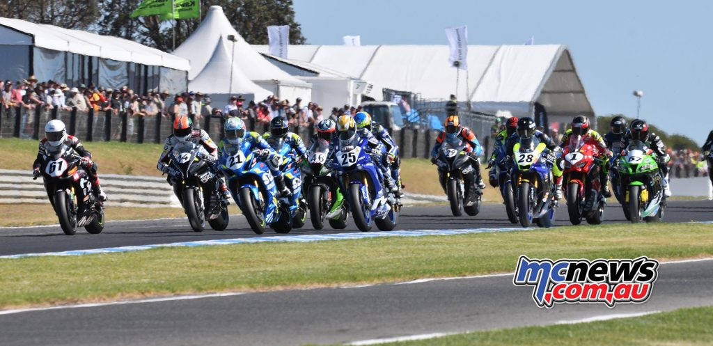 ASBK Round Phillip Island SBK Sunday Rob Mott Start