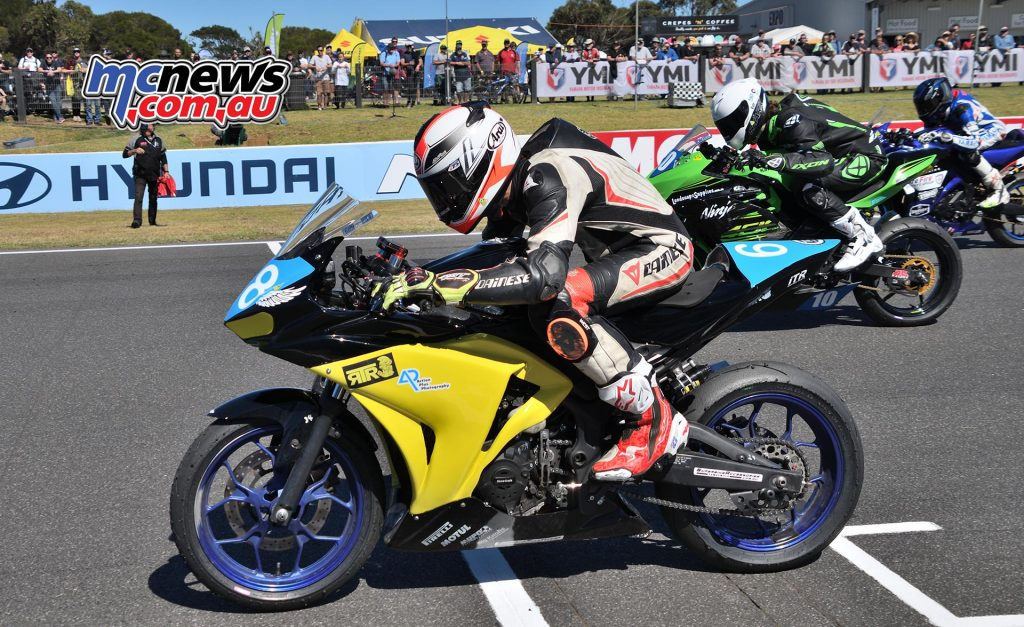 ASBK Round Phillip Island SS Saturday Rob Mott Luke Power Start