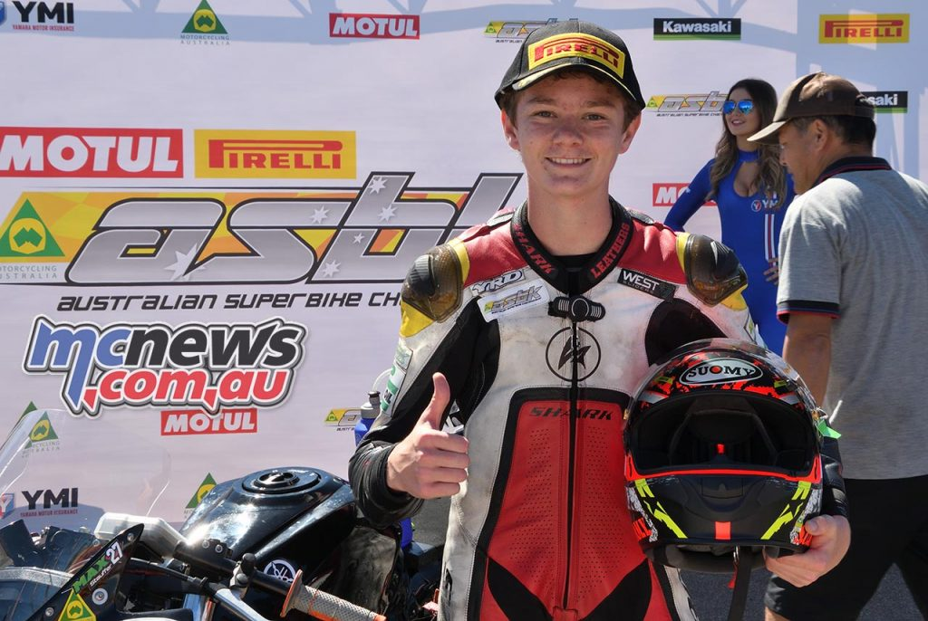 ASBK Round Phillip Island SS Saturday Rob Mott Max Stauffer