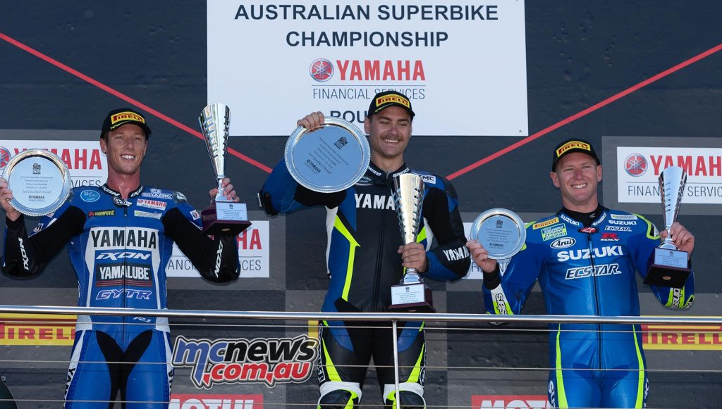 ASBK TBG Rnd Podium Wagner Halliday Waters TBG