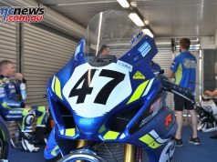 ASBK Testing SB Phillip Island Rob Mott Wayne MAXWELL Bike Josh Waters in Background