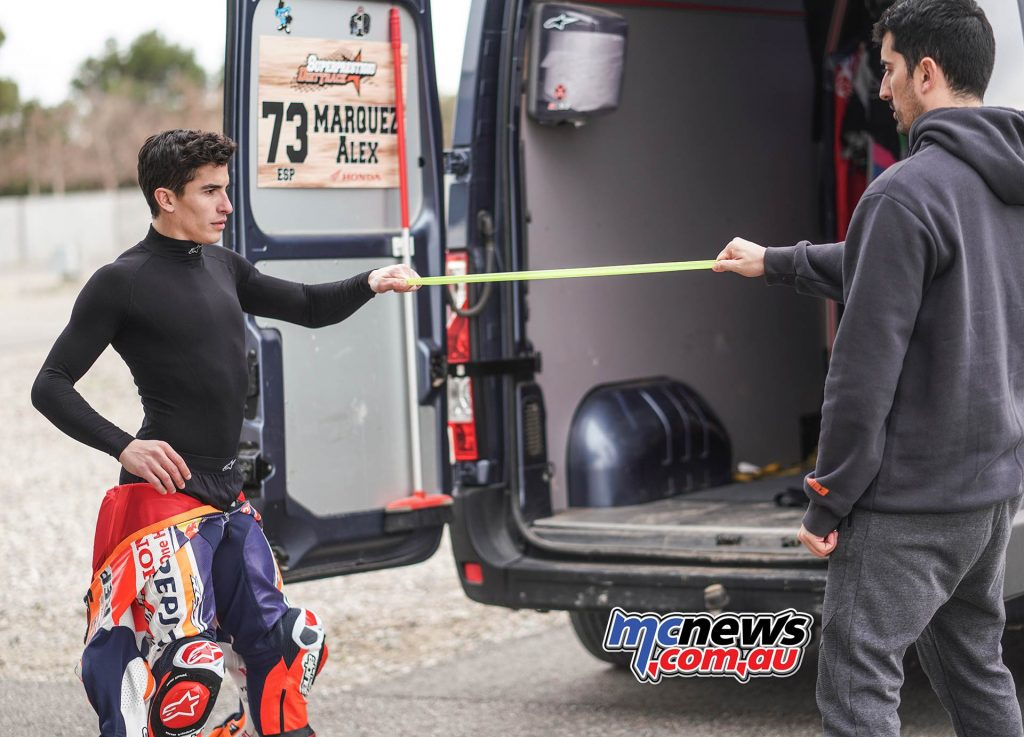 Marc Marquez Shoulder Test