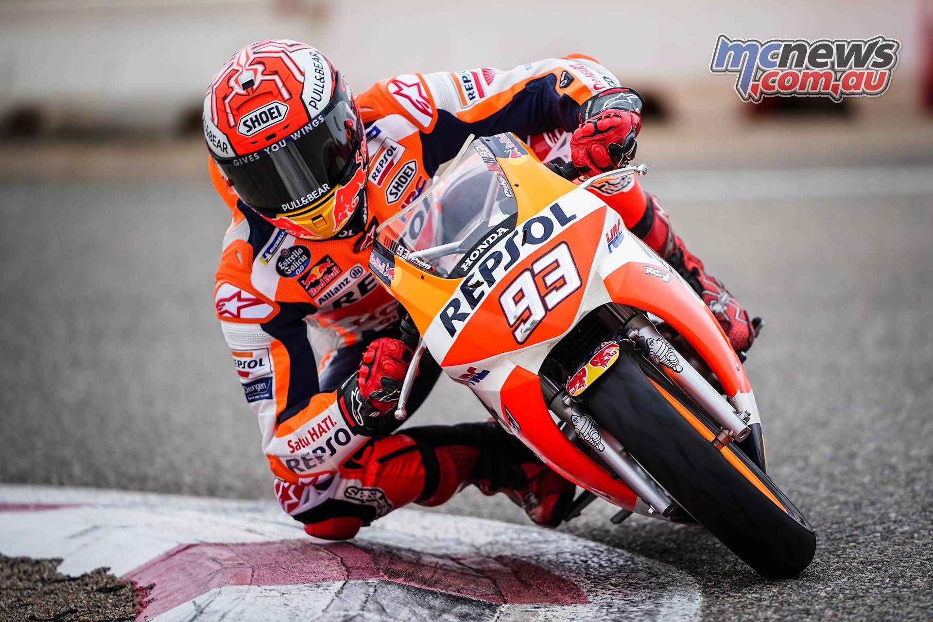 Marc Marquez tests rebuilt shoulder on track in Spain | MCNews.com.au