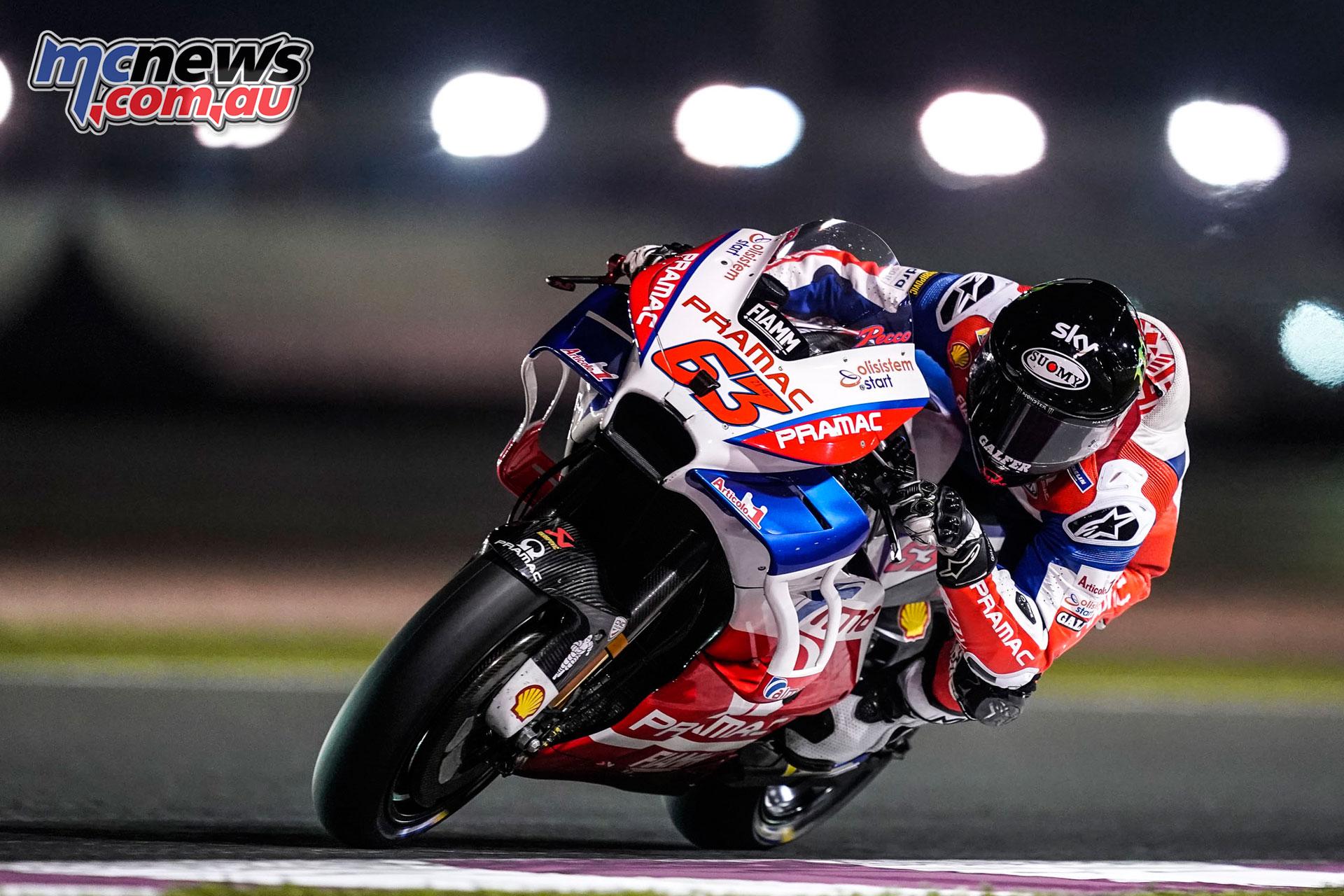 MotoGP Test Qatar Day Pecco Bagnaia AX