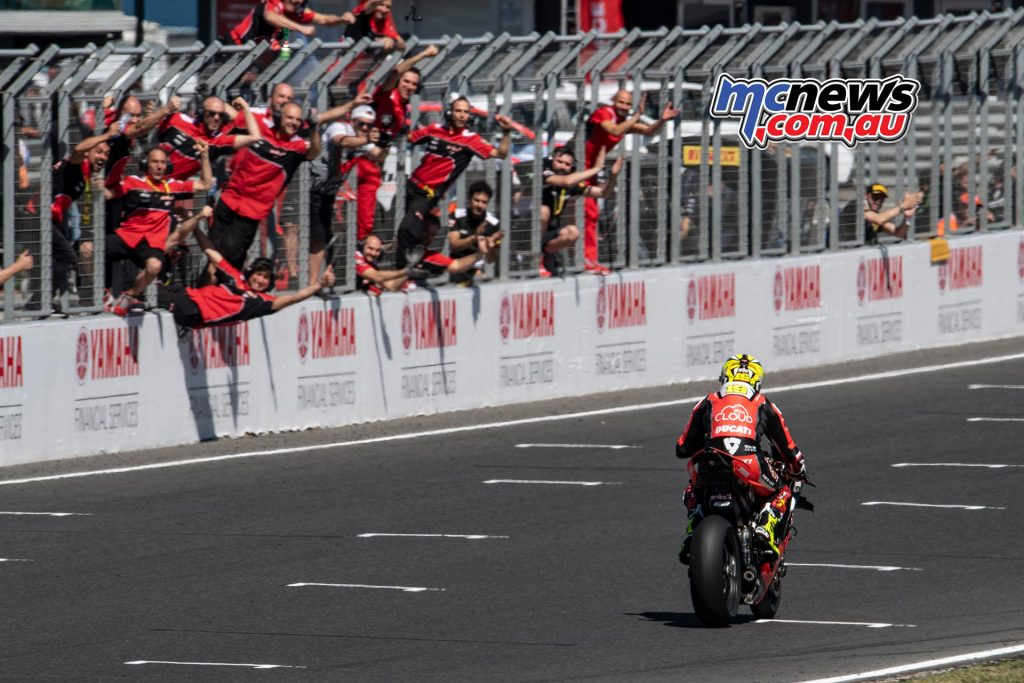 WSBK Rnd Race Alvaro Bautista ..first victory for the Ducati Panigale VR in world superbike