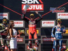 WSBK Rnd Race Alvaro Bautista podium Jonathan Rea Marco Melandri