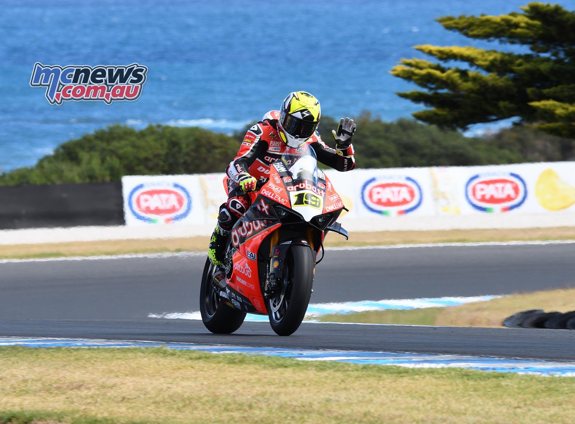 WSBK Round Phillip Island SBK Friday Rob Mott Alvaro Bautista