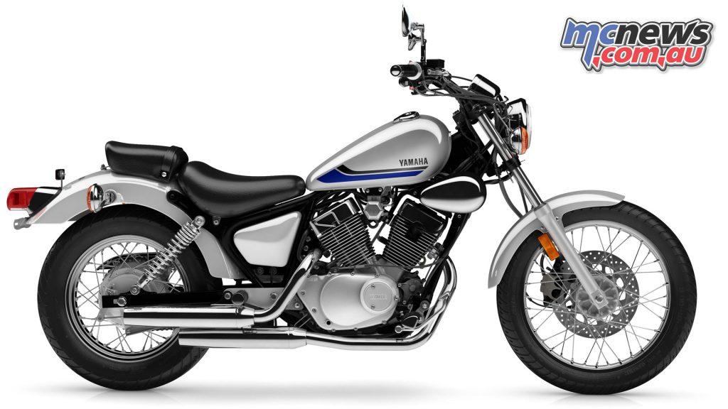 Yamaha V Star Metallic Silver