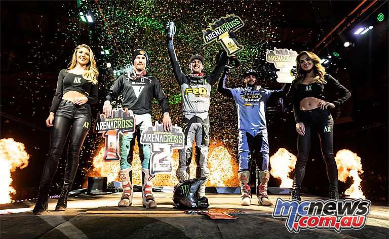 UK Arenacross Super Final Podium
