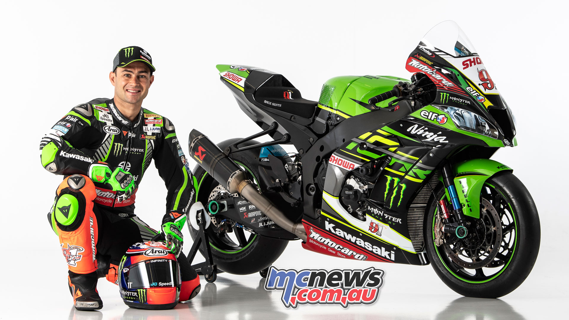 WSBK Kawasaki Racing Team Launch Haslam ZX RR GB