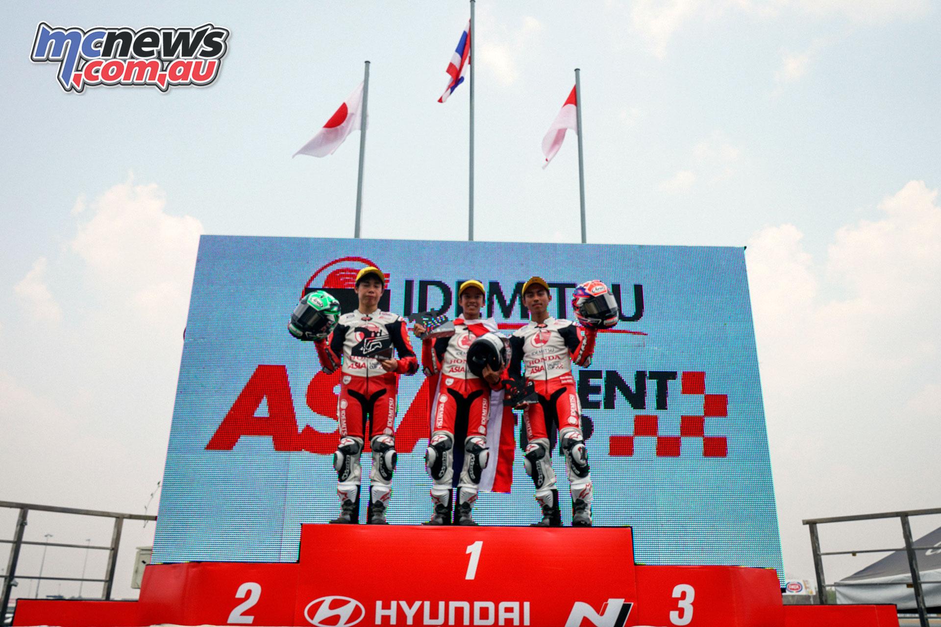 Asia Talent Cup Rnd Thailand Race Podium