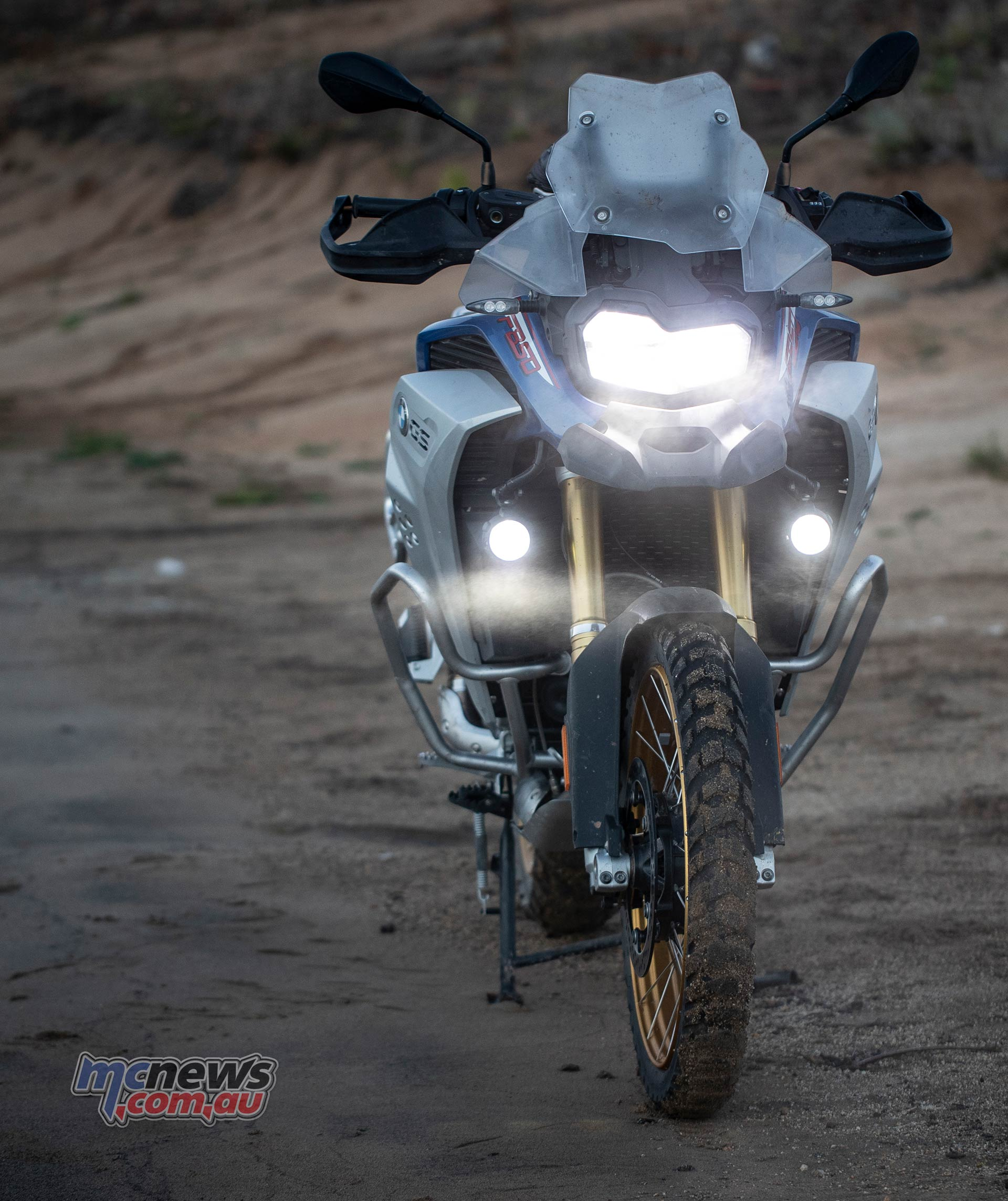 BMW F GS Adventure Blue Front