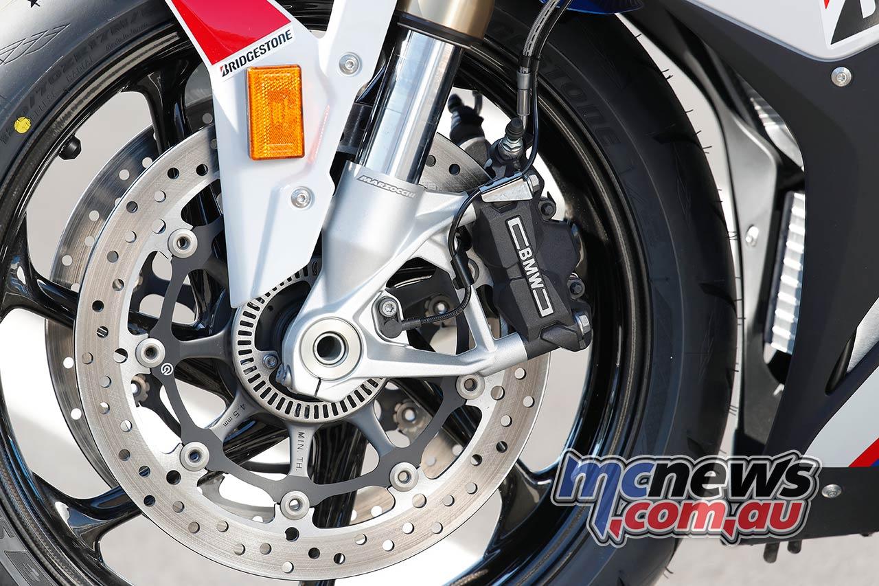 BMW SRR Forks Brakes Details