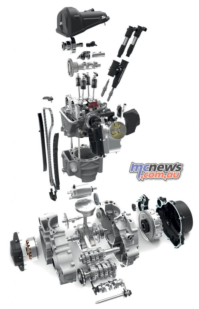 KTM Enduro R Trev Engine Exploded