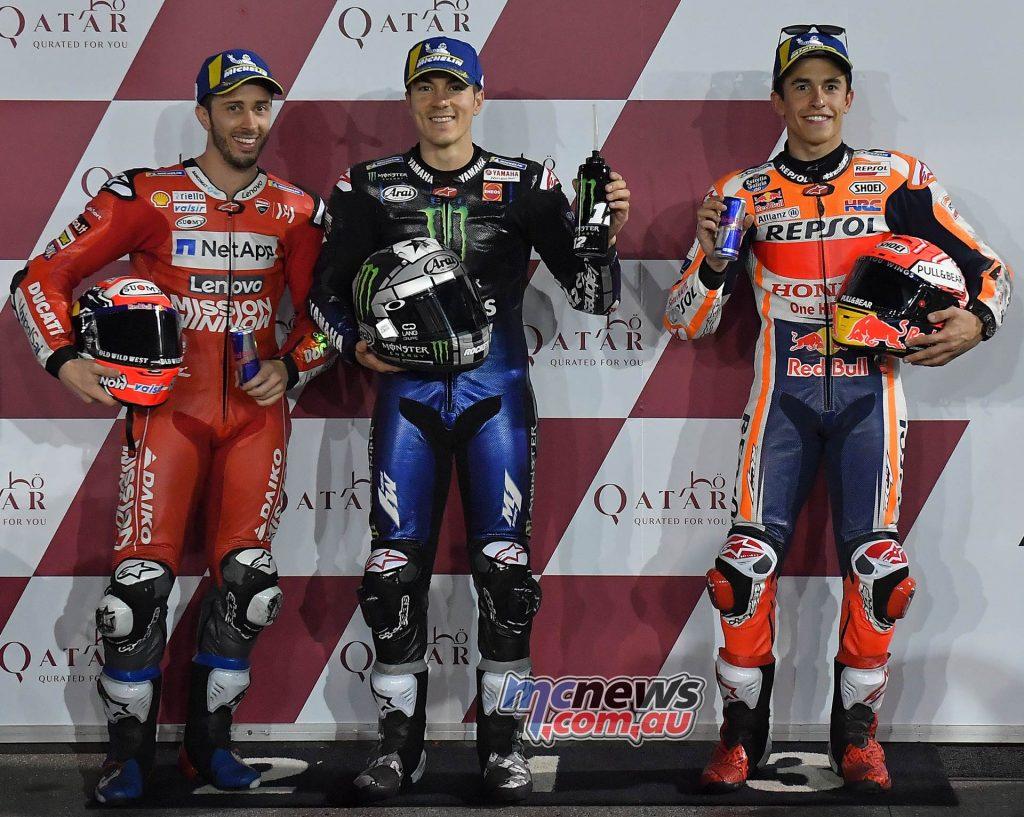 MotoGP Rnd Qatar Qualifying Vinales Dovizioso Marquez