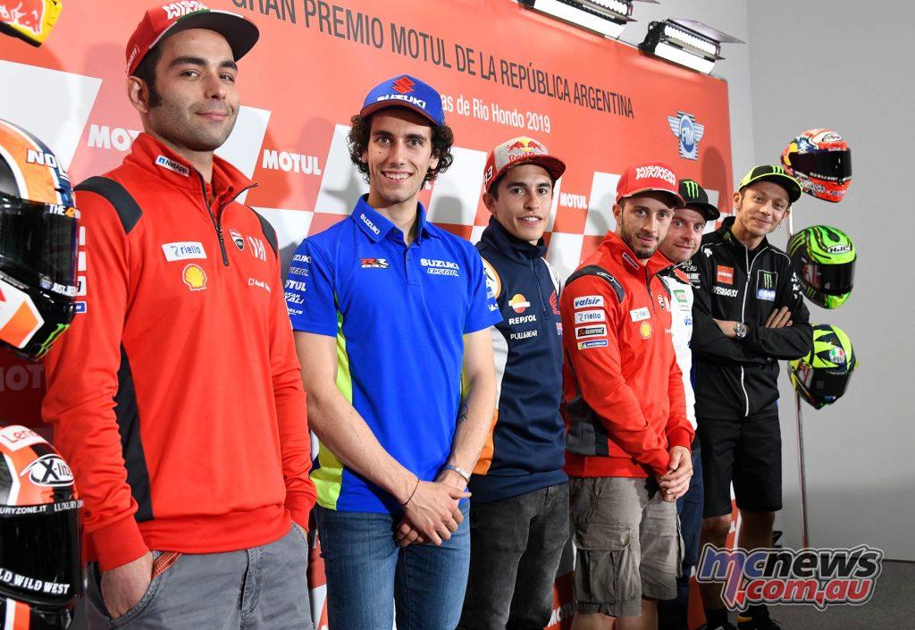 MotoGP Rnd PressConf Riders