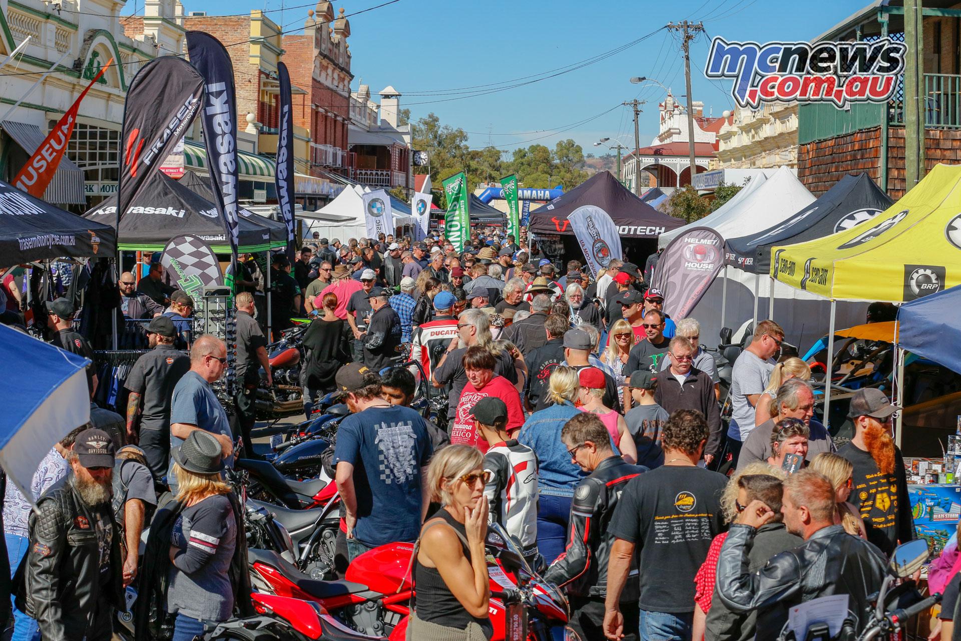 York Motorcycle Festival Crowds