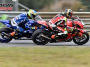ASBK Rnd Wakefield RbMotoLens Sunday SBK Race Troy HERFOSS Leads Turn