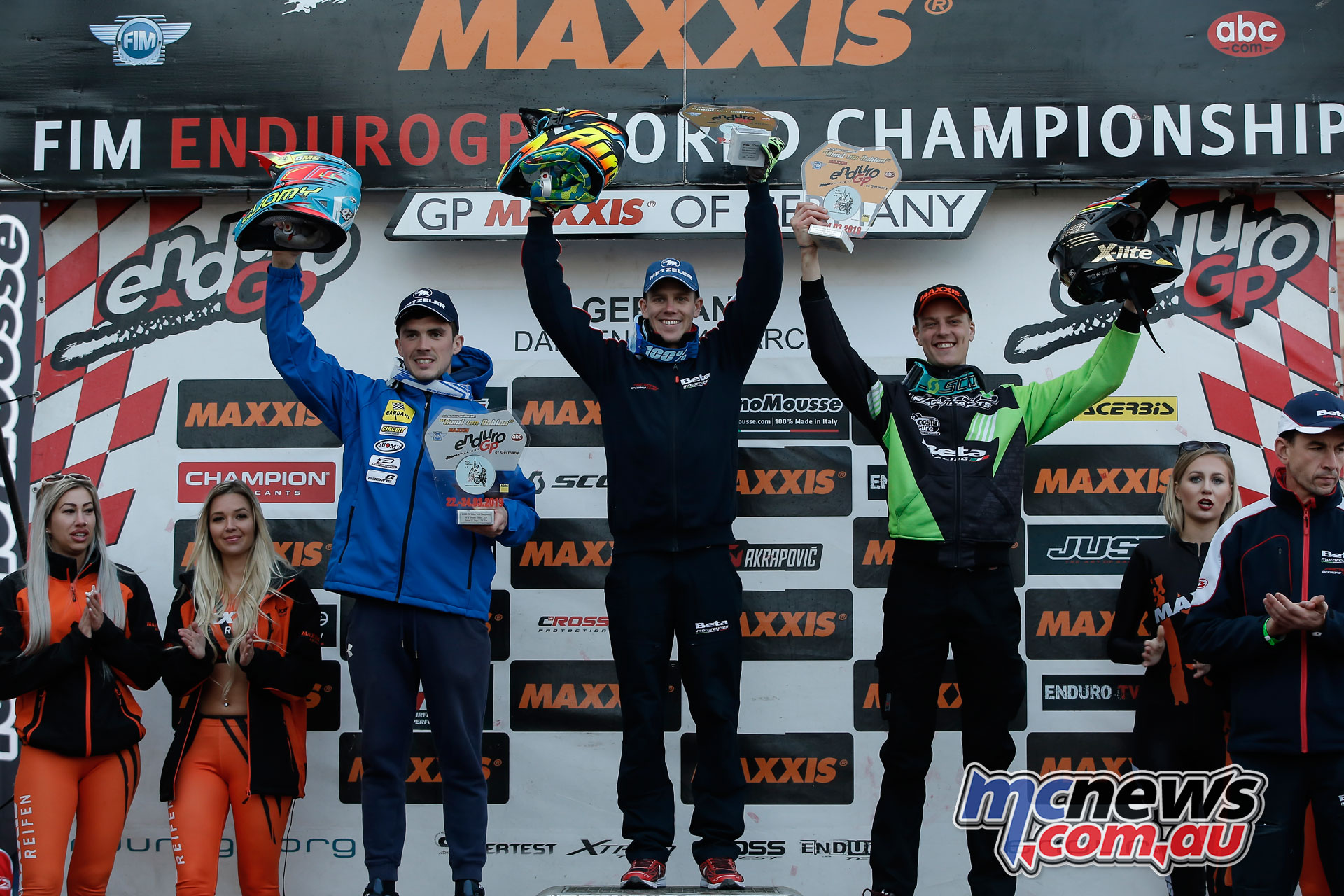 EnduroGP Rnd Germany EnduroGP Day podium