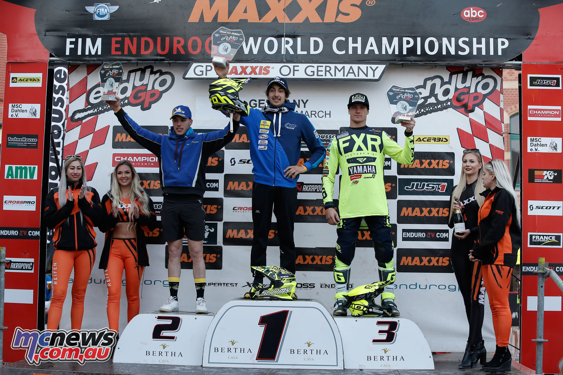EnduroGP Rnd Germany Junior Day podium