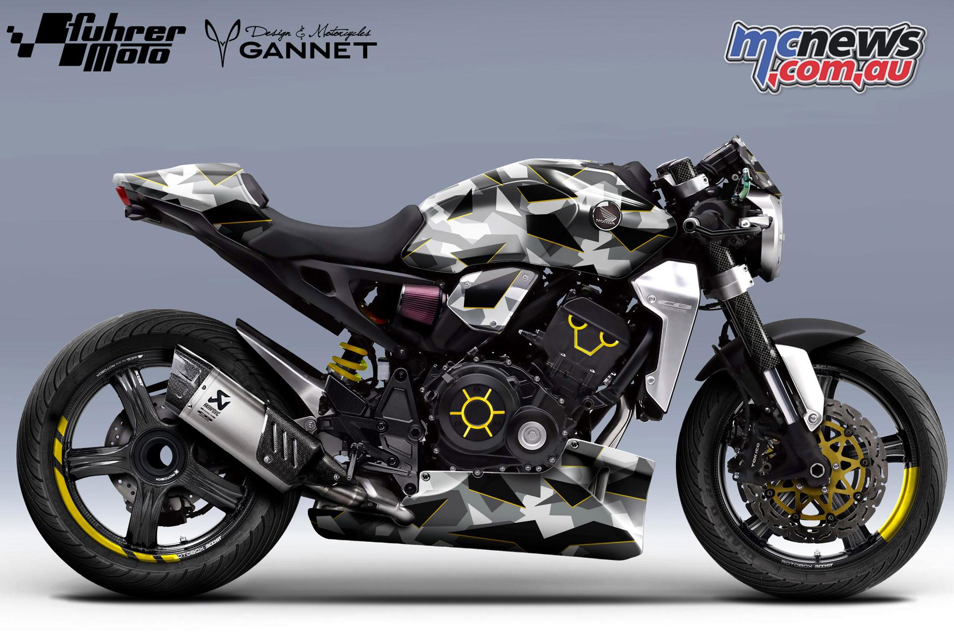 Fuhrer Moto Gannet Honda CBR Design Rendering