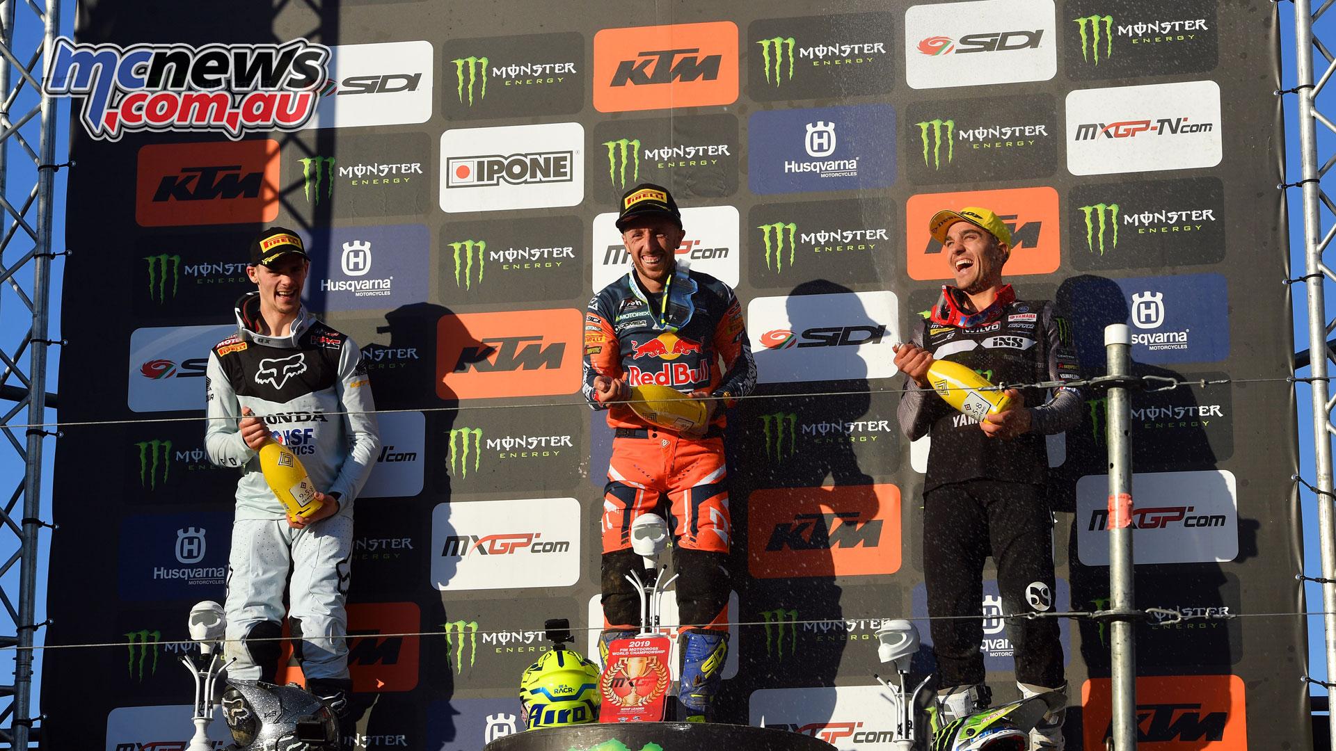 MXGP Rnd Britain mxgp podium