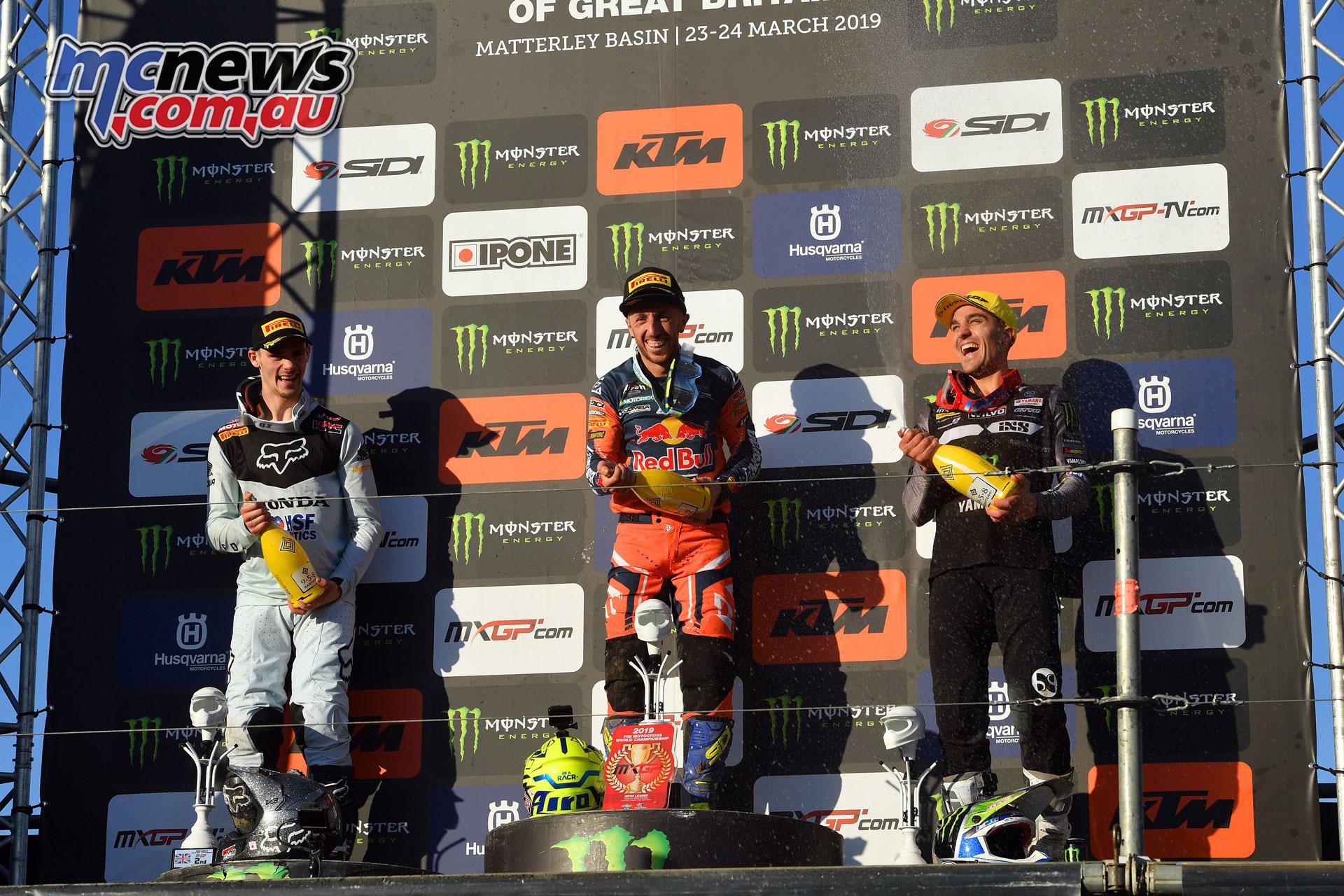 MXGP UK mxgp podium