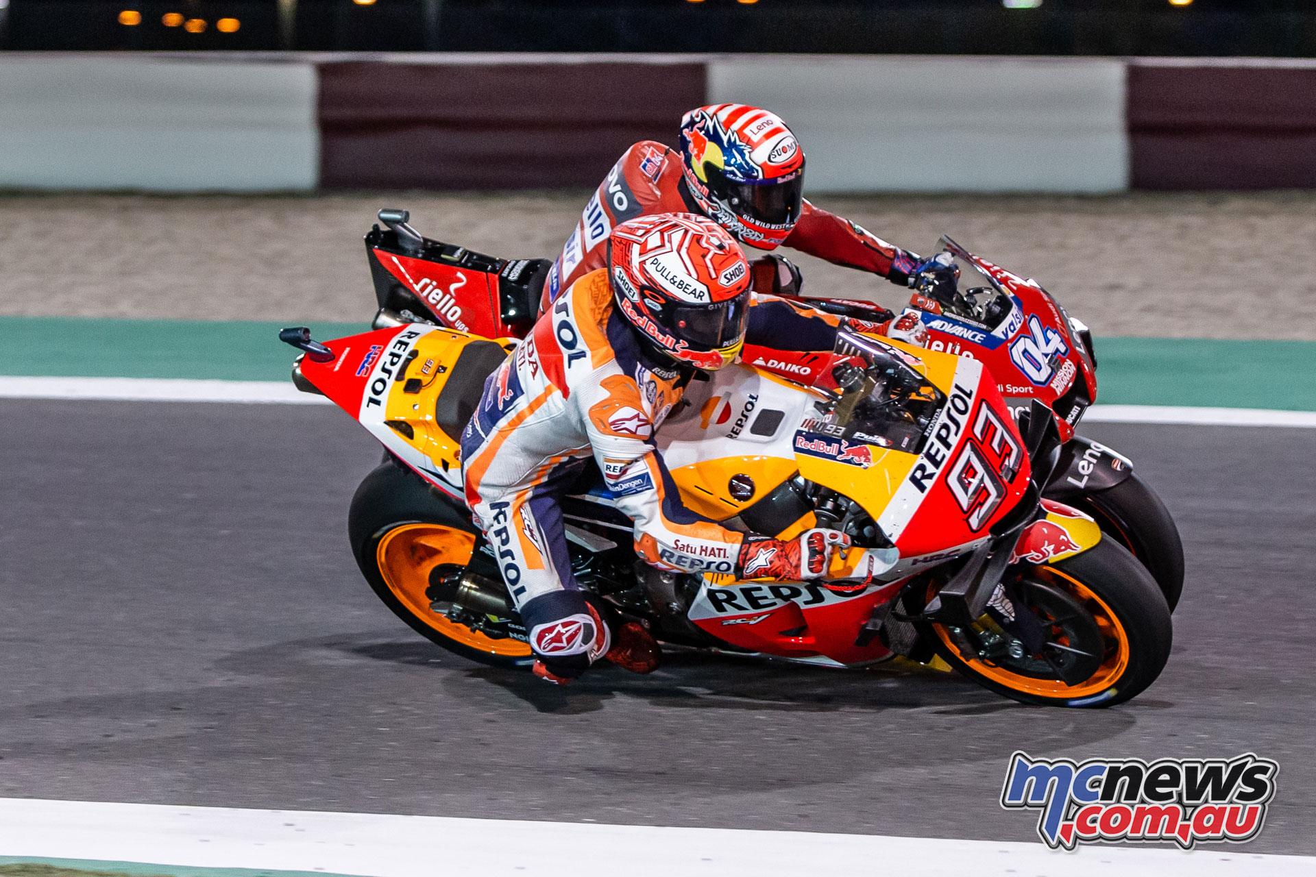 MotoGP Qatar Rnd Marquez Dovi