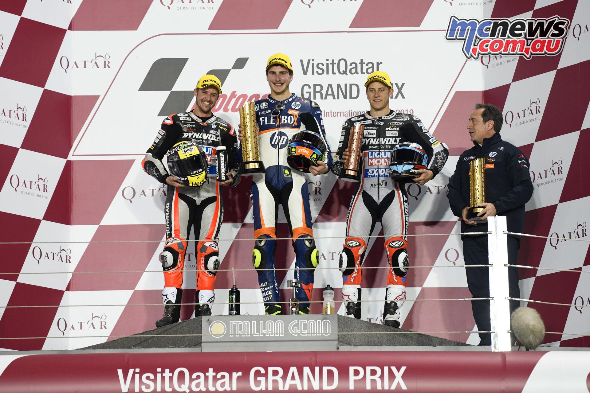 MotoGP Qatar Rnd Moto Podium