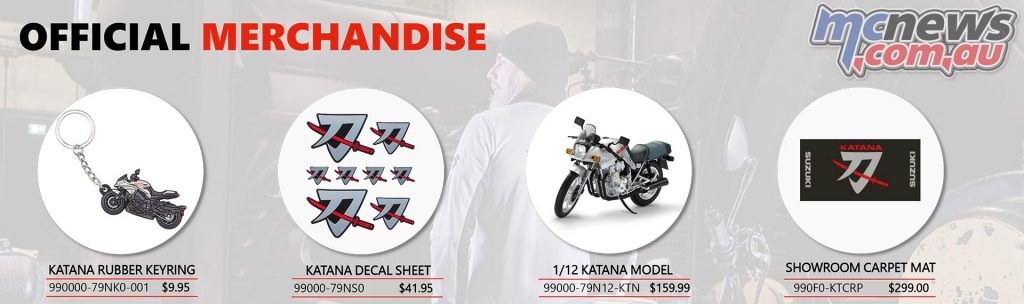 Suzuki Katana Accessories Range