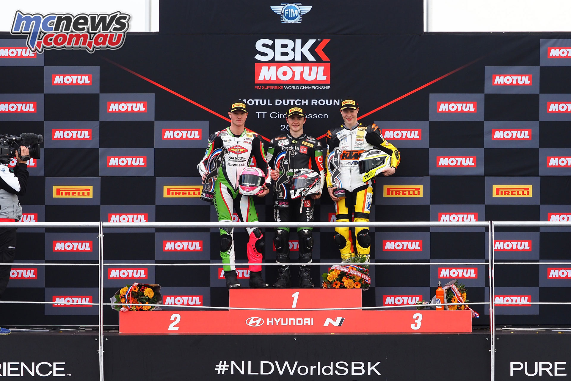WorldSBK NED WorldSSP Sunday Podium
