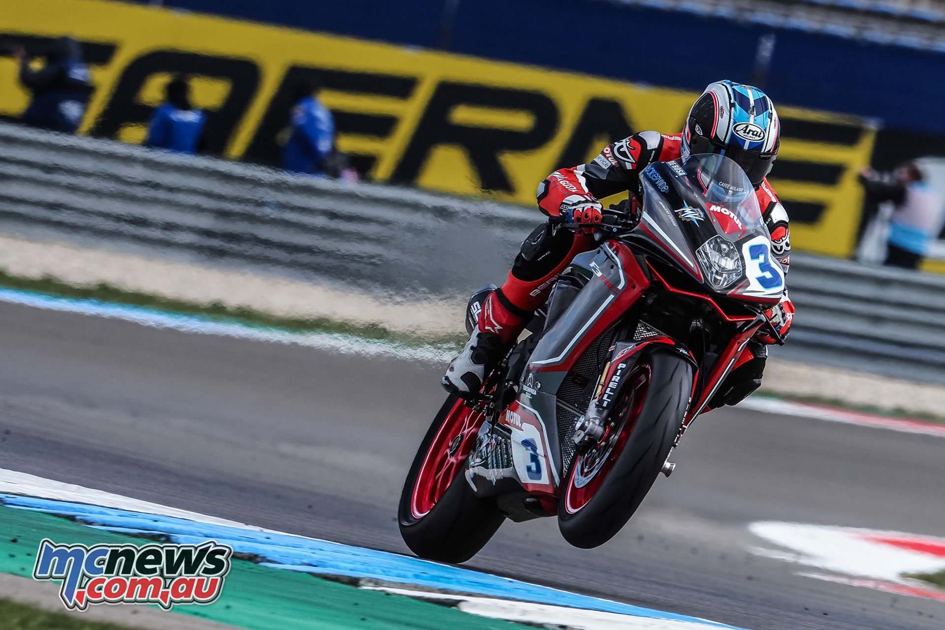 WorldSBK NED WorldSSP Saturday Action DeRosa