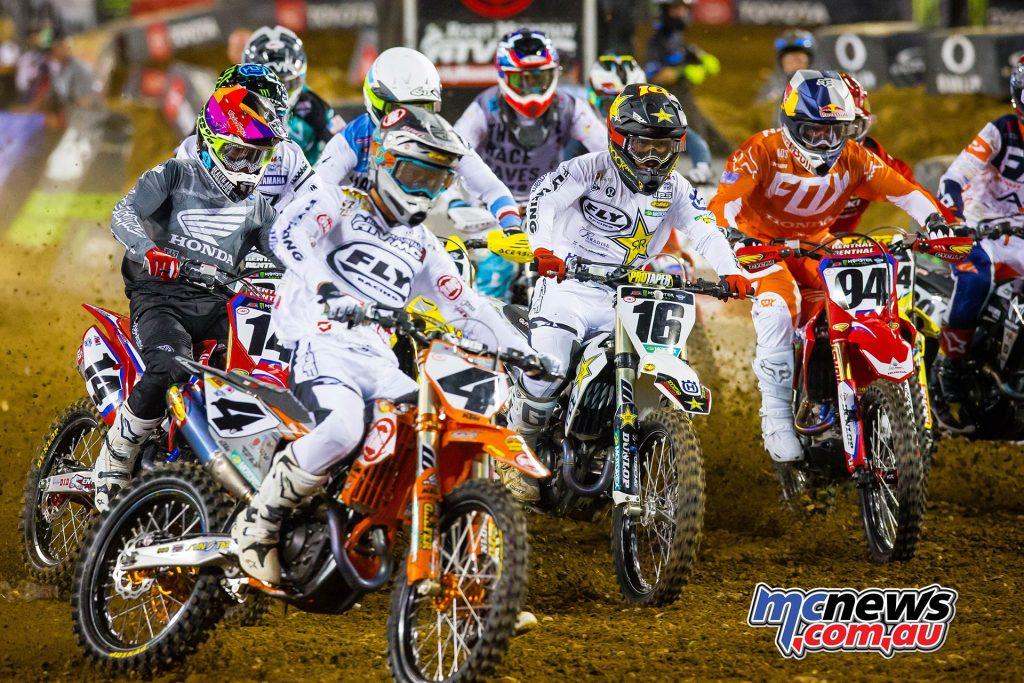 AMA Supercross Rnd Bagget Starts JK SX Nashville