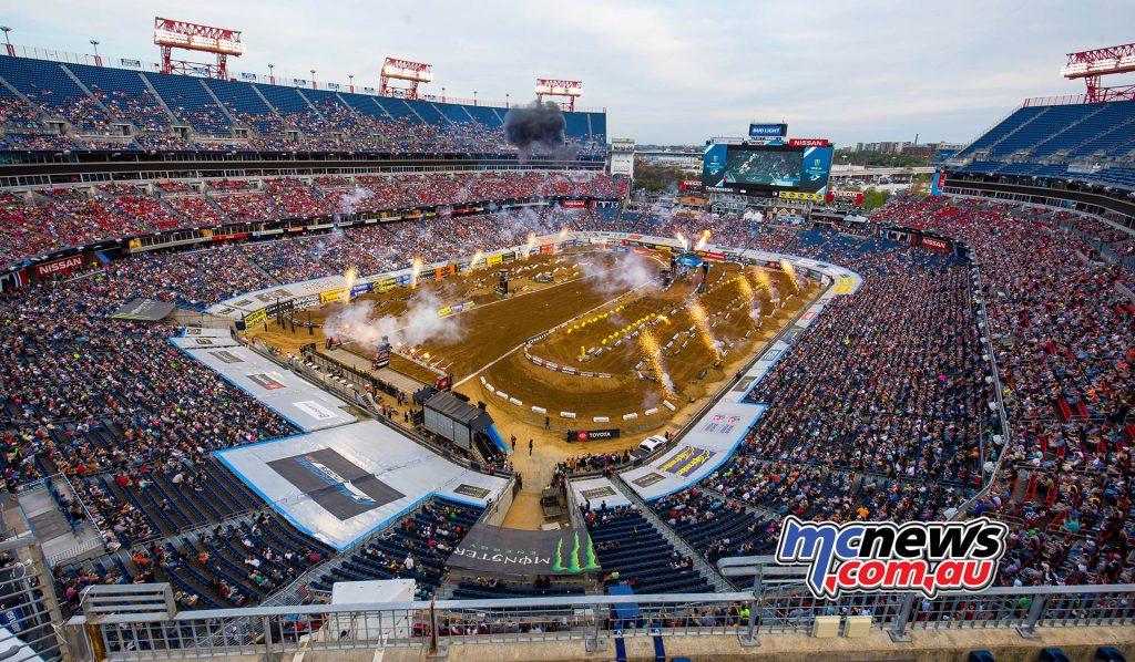 AMA Supercross Rnd Nissan Stadium Pits JK SX Nashville