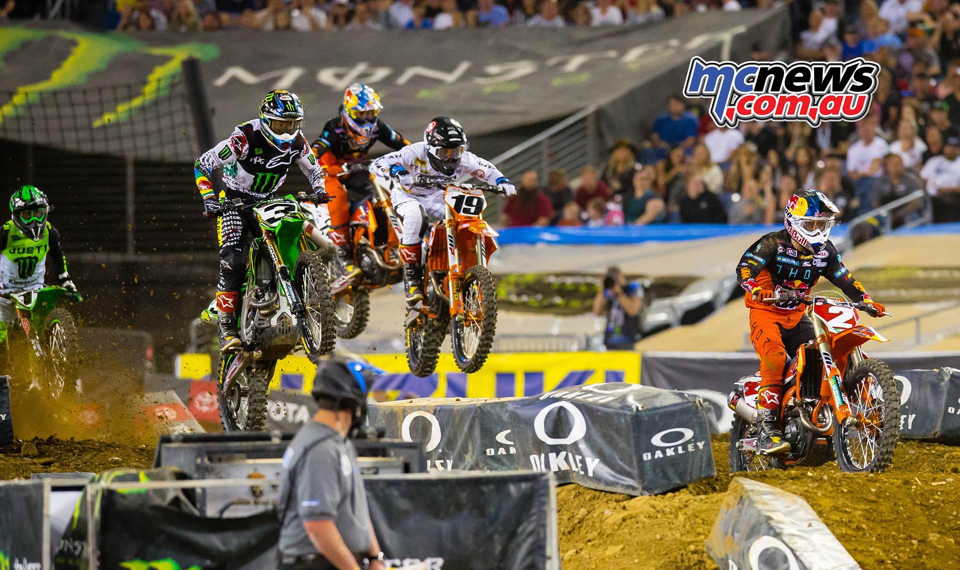 AMA Supercross Rnd Webb Bogle Tomac Multiple JK SX Nashville