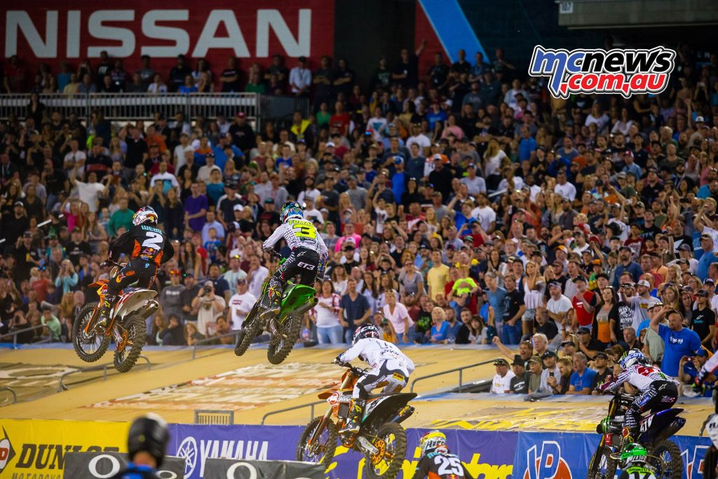 AMA Supercross Rnd Webb Tomac Multiple JK SX Nashville