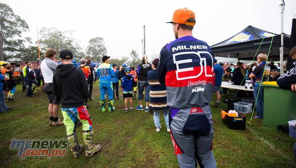 AORC Dungog Daniel Milner and crowd