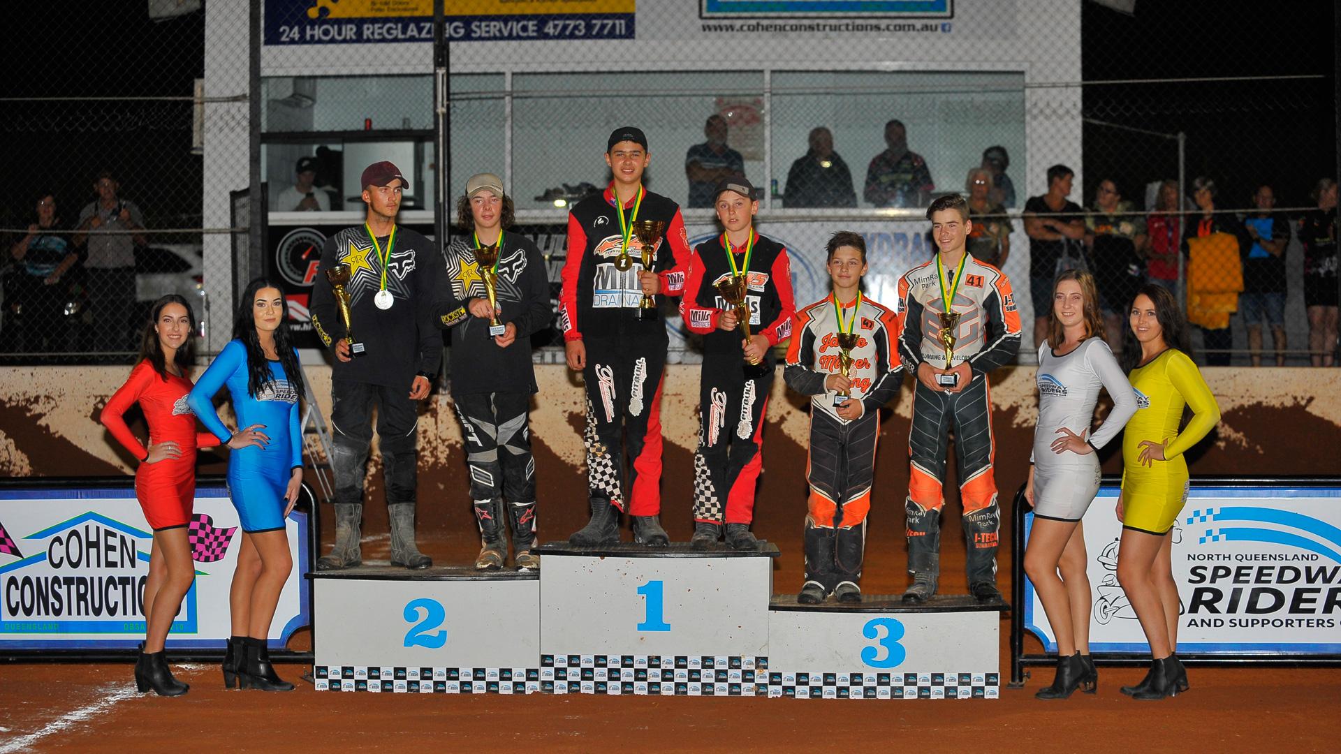 Australian Junior Speedway Sidecar Championship Podium